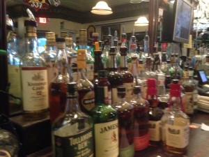 I really am a terrible photographer. Maybe it's the tears in my eyes at the sight of all that beautiful Irish whiskey.