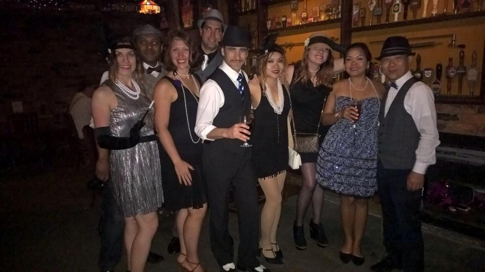 I get to meet great folks like these, at Ye Olde Tap Room's annual Prohibition party