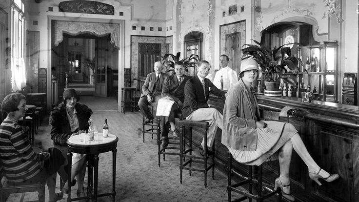 Hotel de Paris bar Monaco ca 1920
