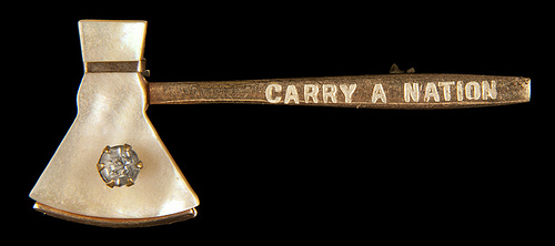 carry a nation hatchet pin